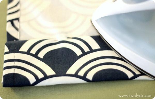 ironing thick hem