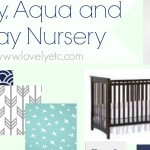 Navy, Aqua, and Gray Nursery Plan