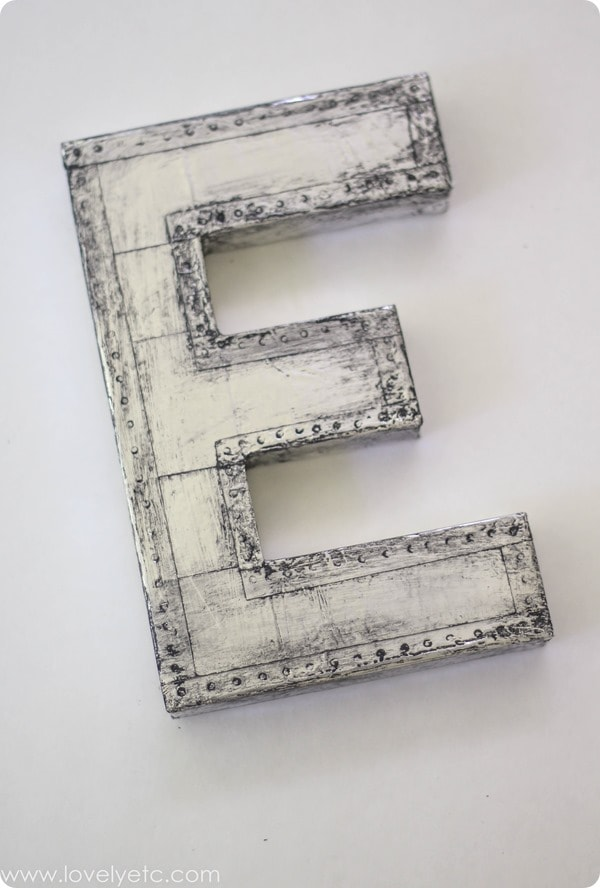 make your own vintage industrial letter
