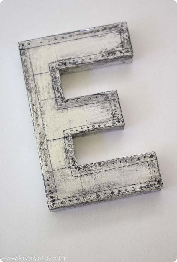 make your own vintage industrial letter
