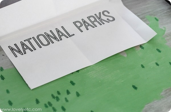 national parks wooden sign