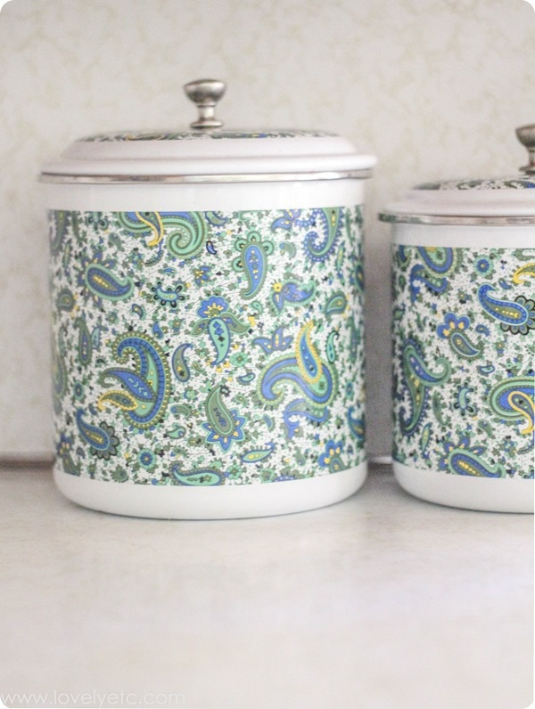 vintage paisley canisters