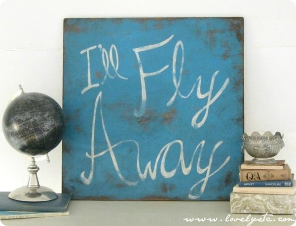 I'll fly away sign