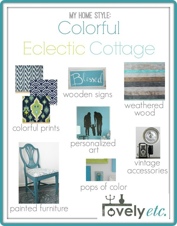 colorful eclectic cottage style
