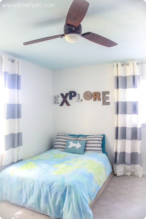 fan and bed