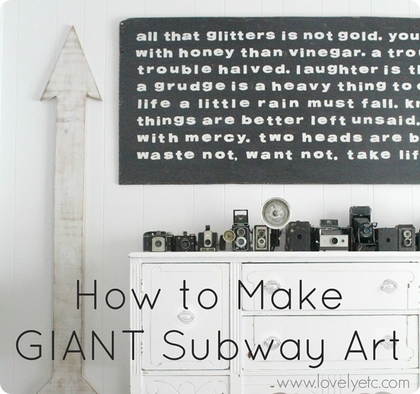 giant subway art