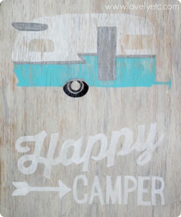 happy camper vintage sign