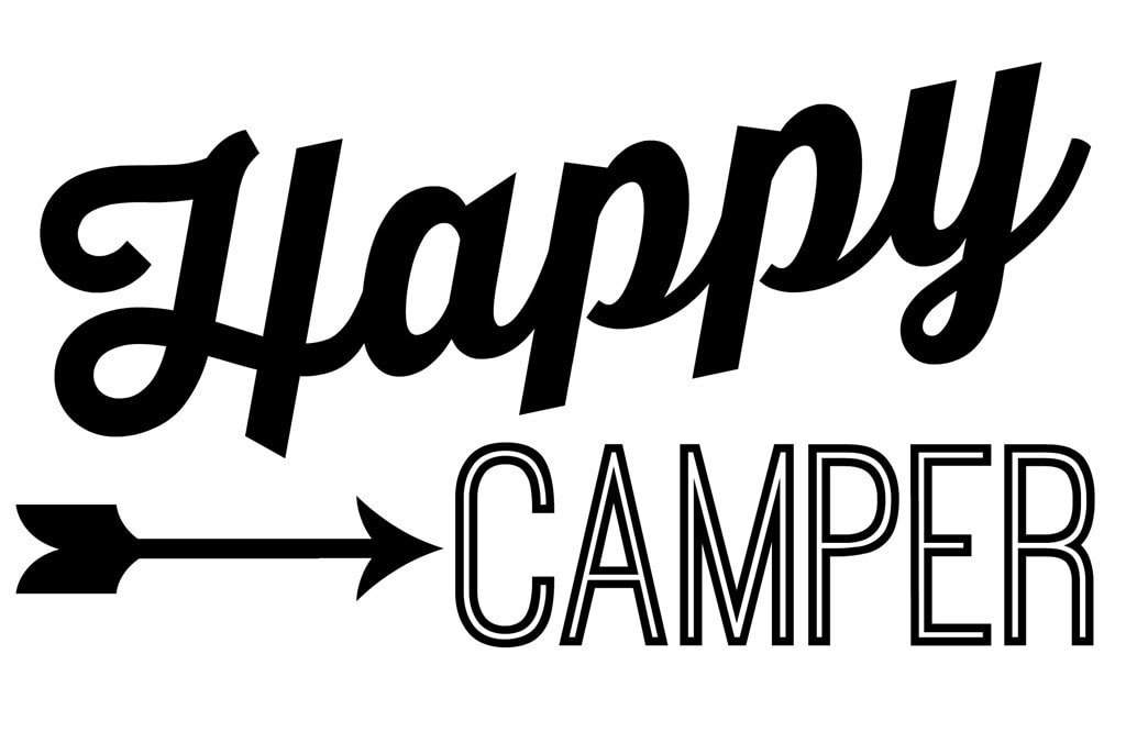 picture relating to Free Printable Camping Signs titled Joyful Camper: A Do it yourself Signal - Stunning Etcetera.
