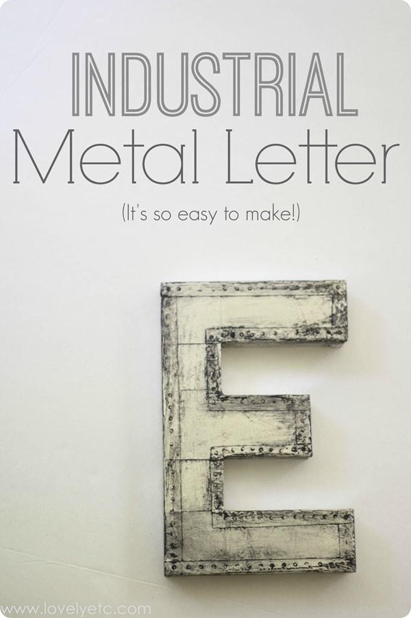 industrial metal letter