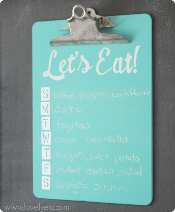 lets eat chalkboard menu planner