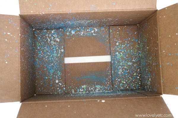 paint splattered box