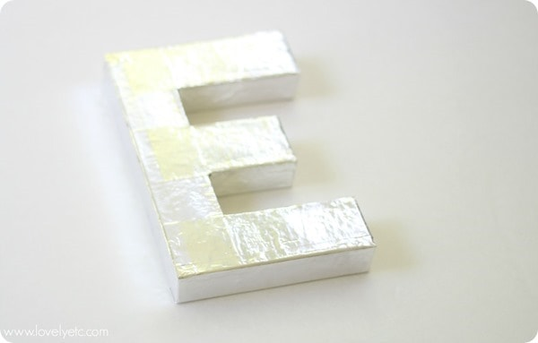shiny metal letter