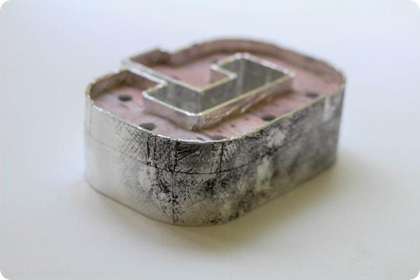 making metal tape look old