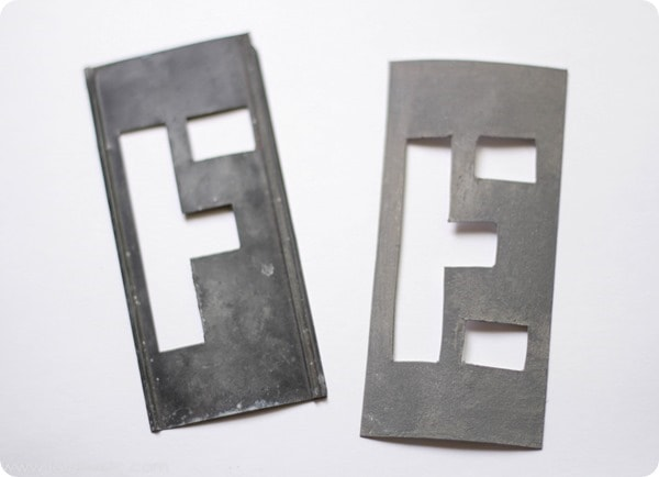 vintage metal typography