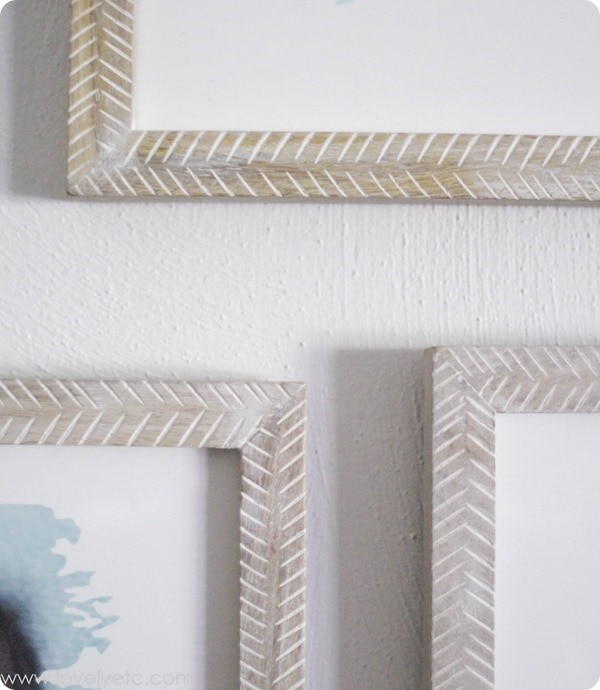 textured herringbone frames