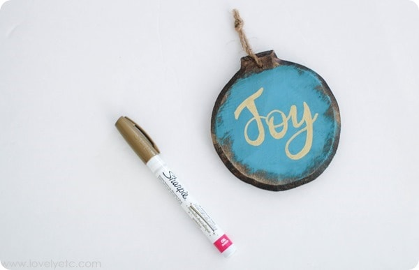 gold paint pen ornament