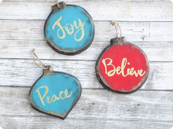 rustic glam diy ornaments