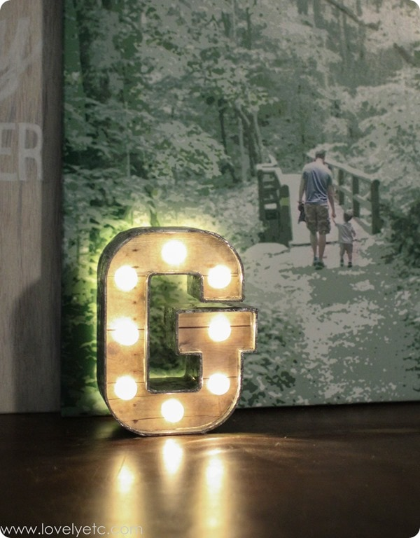 lit marquee letter diy