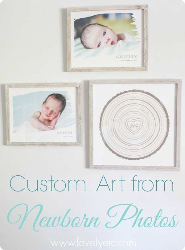 custom art from newborn photos
