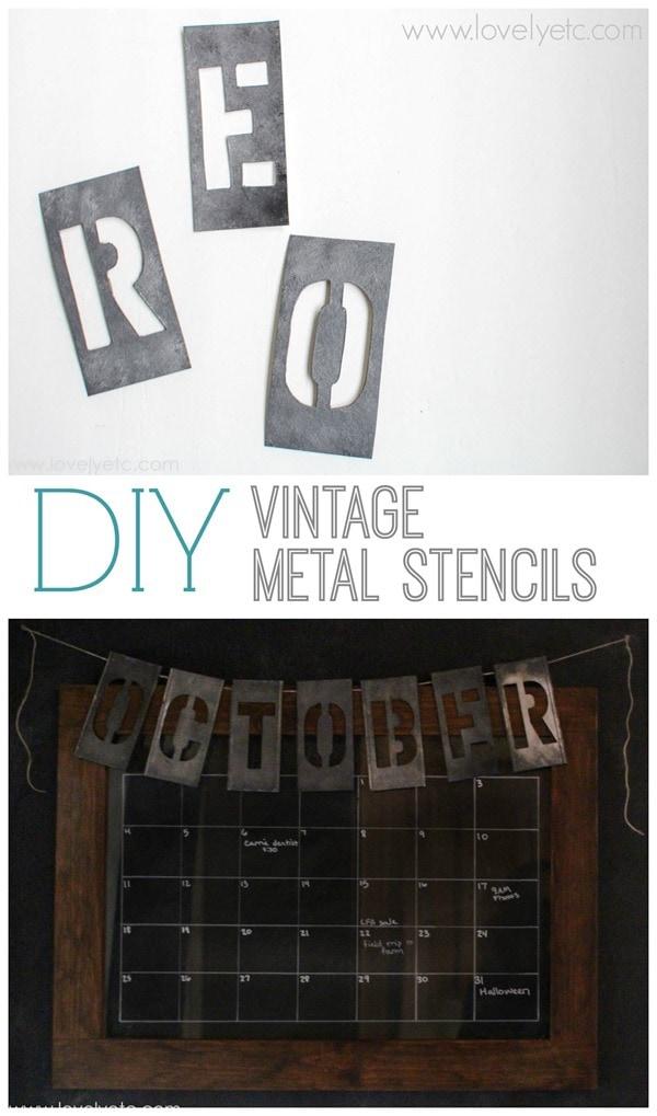 diy vintage metal alphabet stencils