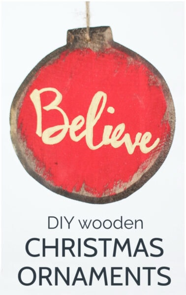 diy painted wooden Christmas ornament