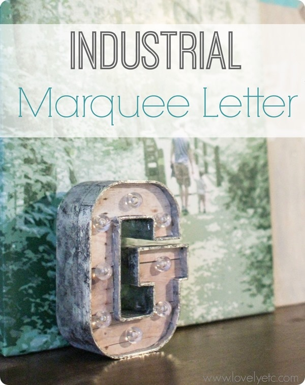 industrial marquee letter