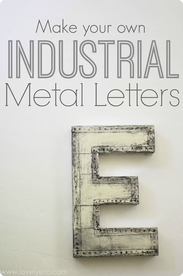 make your own industrial metal letters