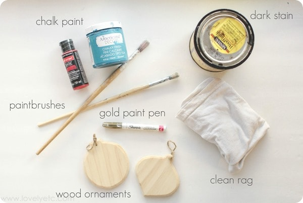 materials for diy christmas ornaments