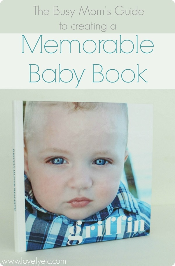 making a memorable baby book