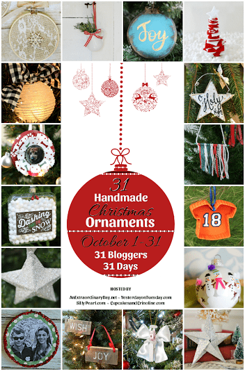 31 handmade ornaments