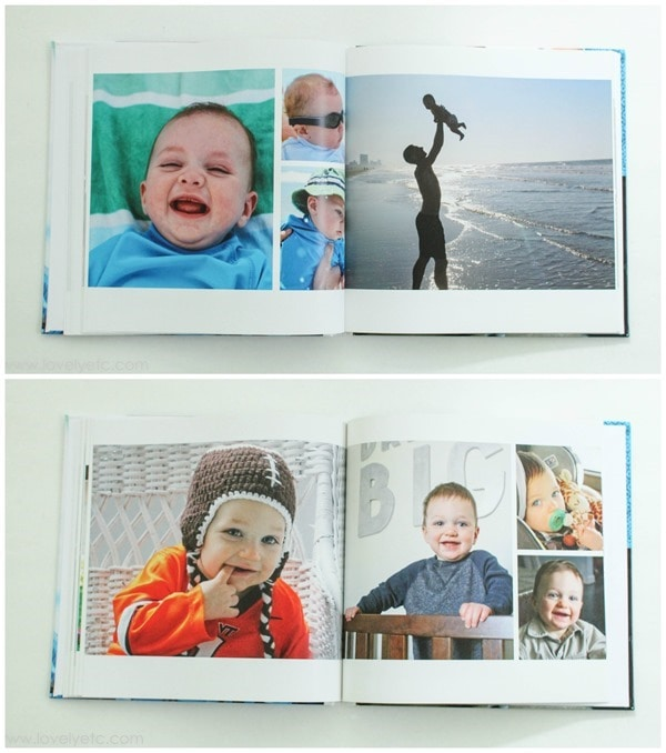 baby book photo book collages