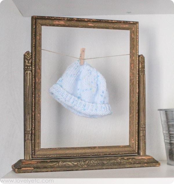 framed baby hat