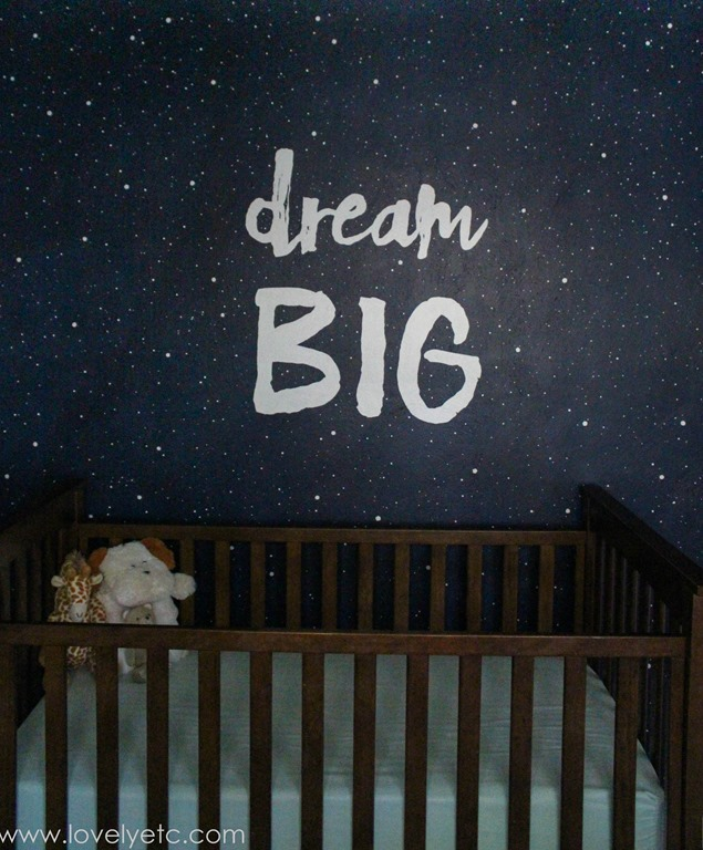 Starry Night Mural In Nursery Save · Dream Big Wall Part 80