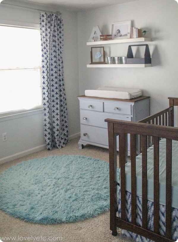 navy and mint nursery