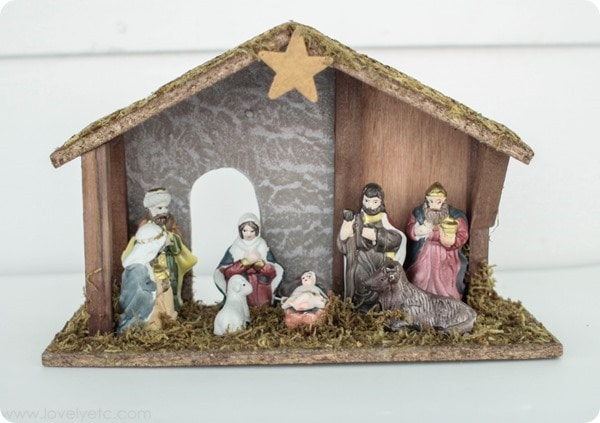 cheap nativity from discount store