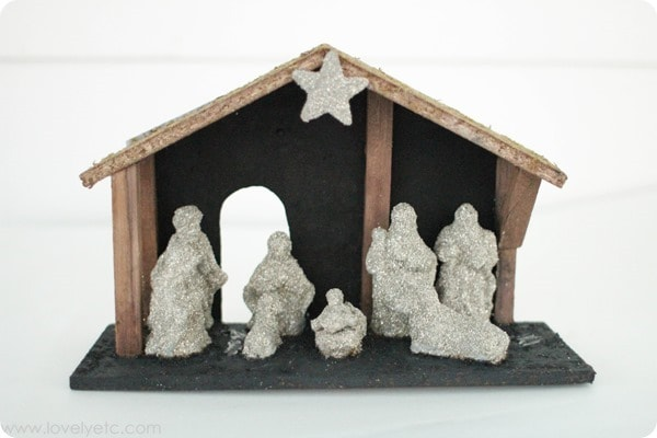 upcycled nativity