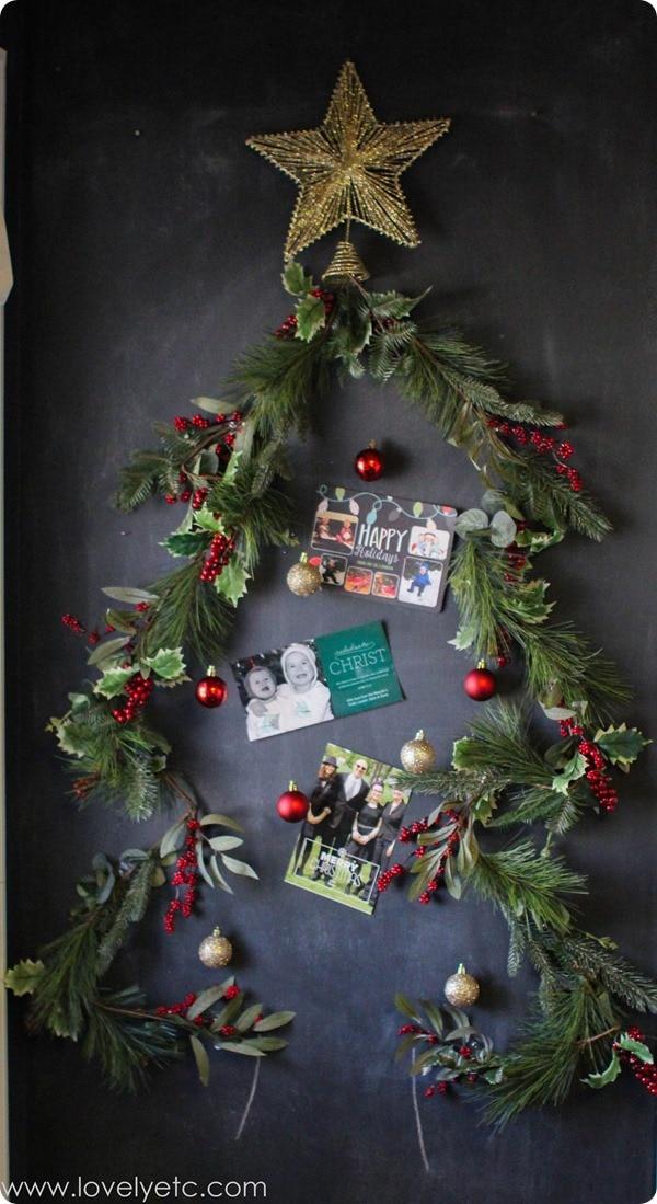 Christmas tree on wall