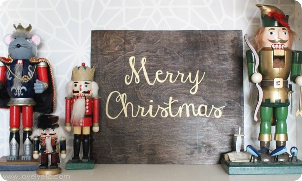 nutcrackers and diy sign