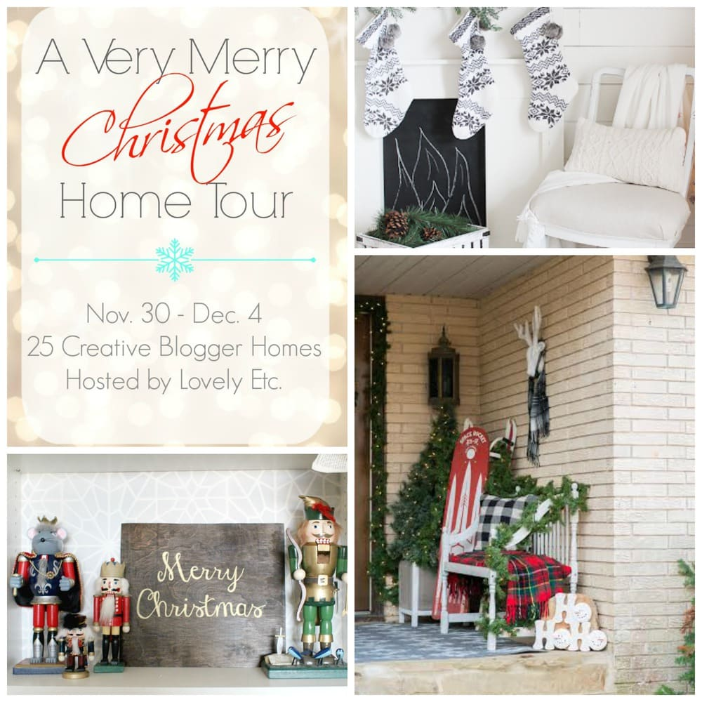 A Very Merry Christmas Home Tour: Our Christmas Porch & Front Entry ...