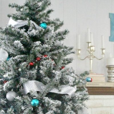 DIY Flocked Christmas Tree: Five Years Later