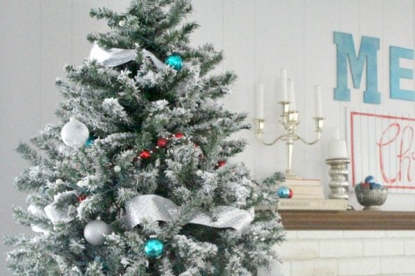 DIY Flocked Christmas Tree: One Year Later