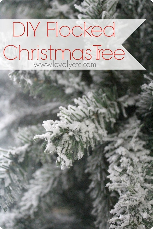 How to Flock a Christmas Tree.  Flocking your own real or artificial tree is much easier than you might think.  Learn the trick to get an authentic flocked look.