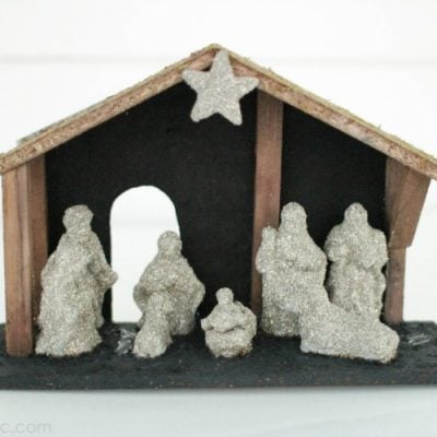 Modern Upcycled Nativity