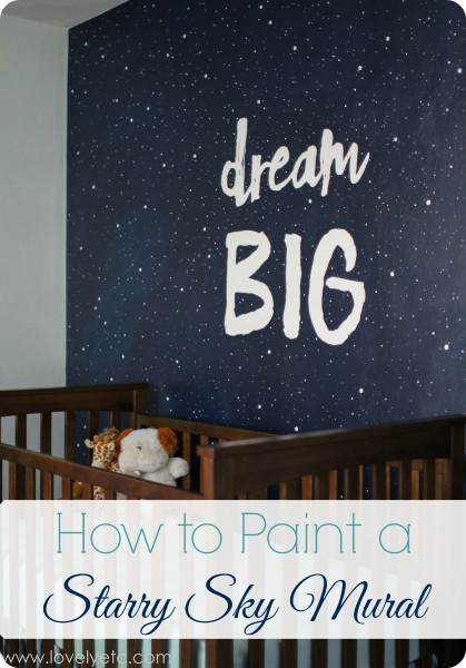 how to paint a starry sky mural