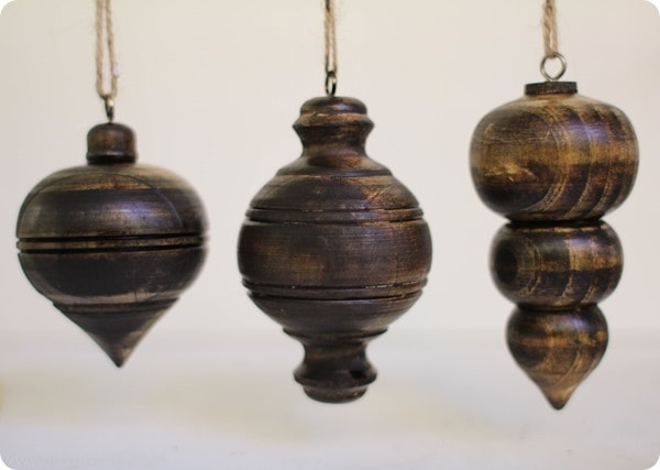 Stained wood christmas ornaments