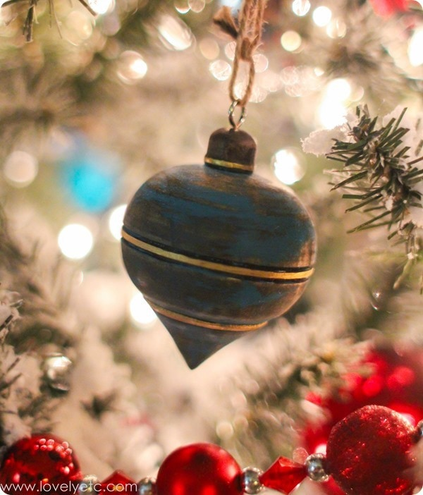 chalk paint christmas ornament
