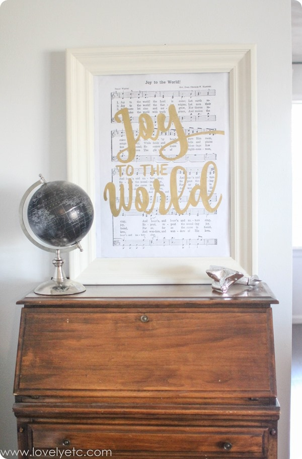 joy to the world printable art.