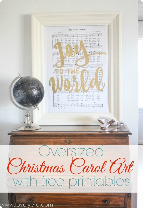 Joy to the World art print printed as an engineering print and framed.
