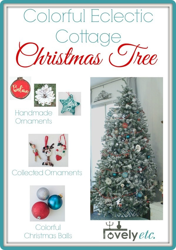christmas tree style colorful eclectic cottage christmas tree