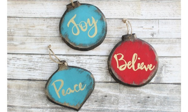 rustic glam christmas ornaments